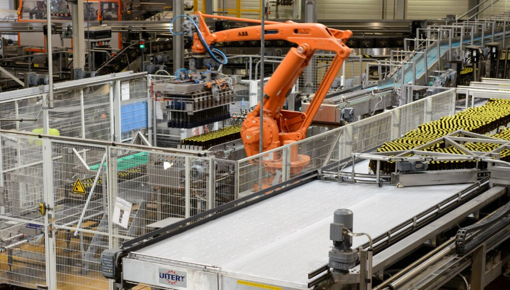 product handling robot crate case packer