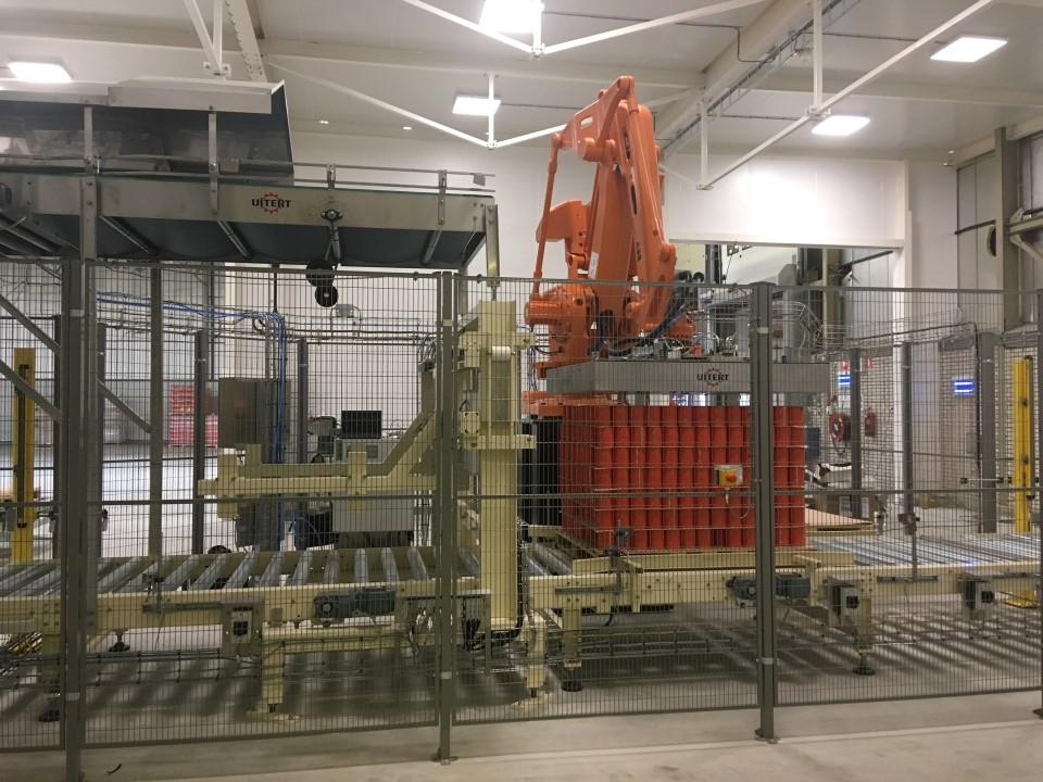 product handling robot depalletiser